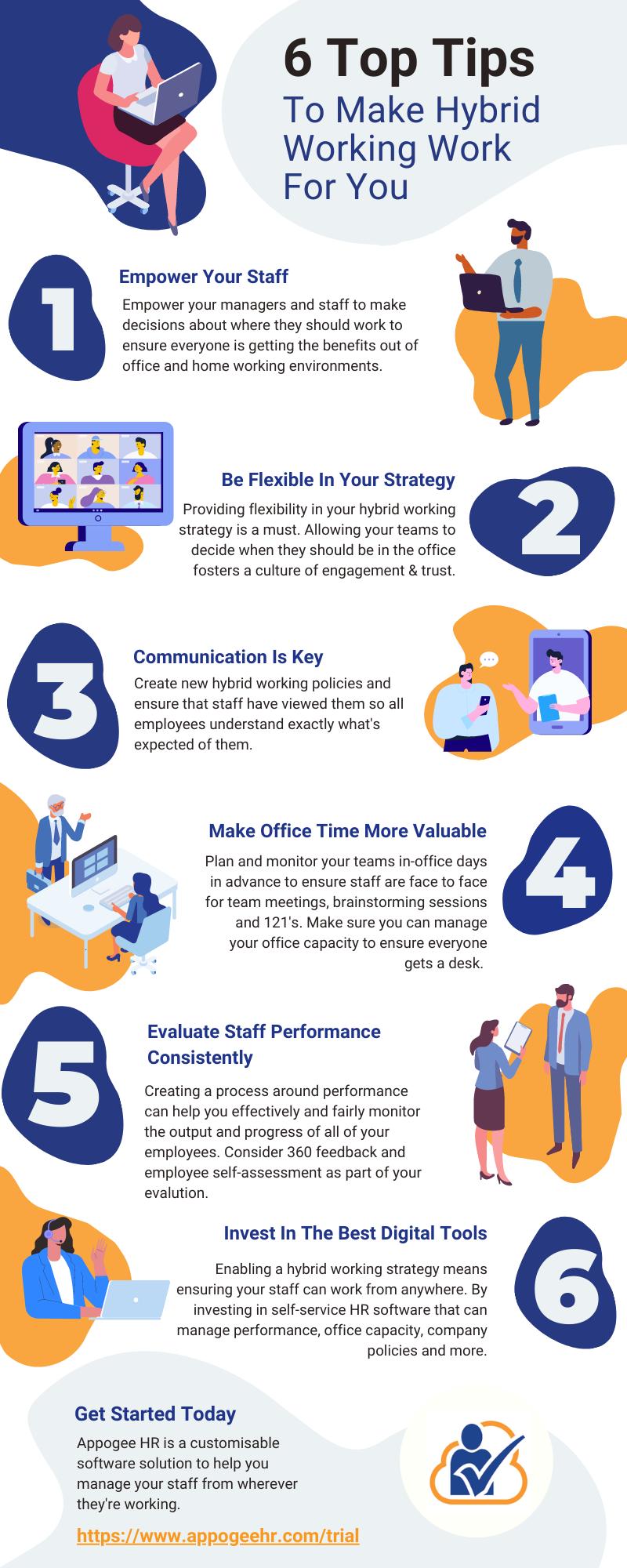 Hybrid Working Infographic