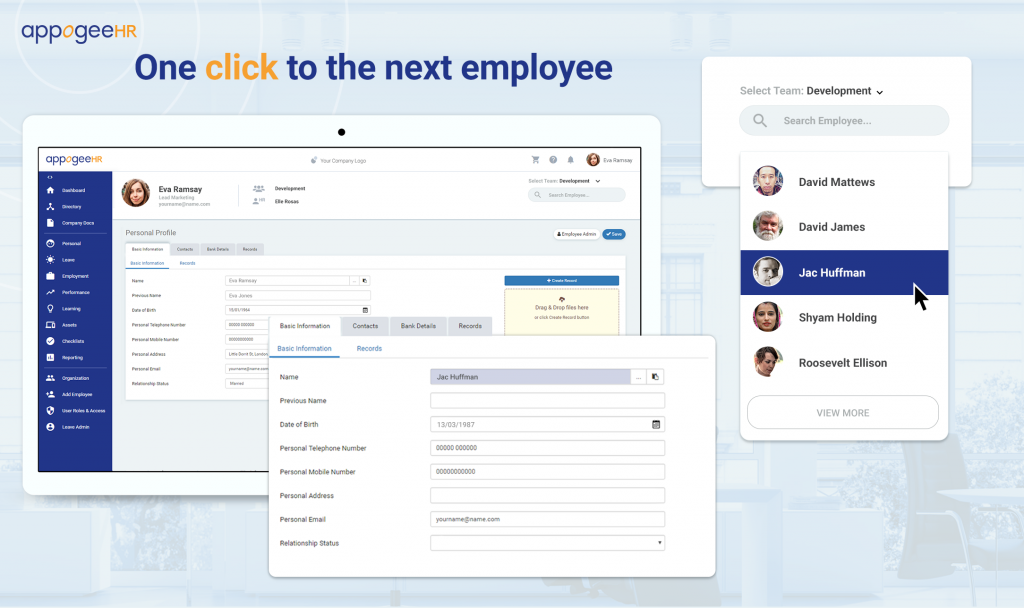ONE-CLICK HR MANAGEMENT