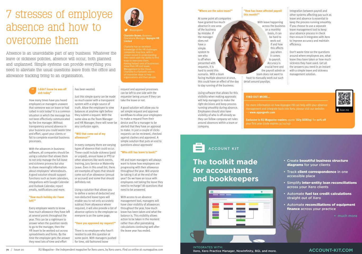 XU Magazine article 7 Stresses of Employee Absence